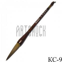 """Кисть для китайской каллиграфии и живописи с двойным ворсом, """"Спящий Барсук"""", 27 см."""