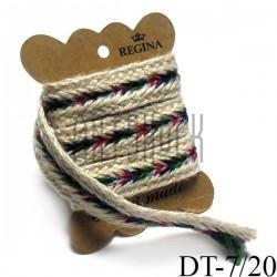 Джутовая тесьма, плетеная натуральная белая, ширина - 2 см., толщина - 2 мм., длина - 1 м., REGINA