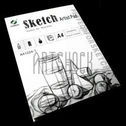 Папка - альбом для эскизов Sketch Pad А4, 210 х 297 мм., CONDA