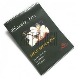 Папка - альбом для эскизов А4, 210 х 297 мм., Phoenix