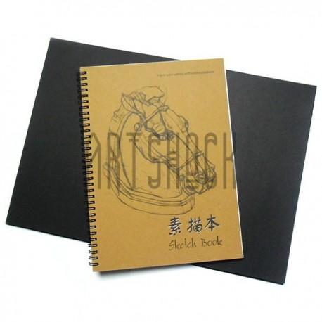 Блокнот - альбом для эскизов на спирали SKETCH BOOK А4, 210 х 297 мм., Maries