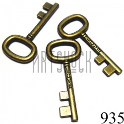 """Набор металлических подвесок винтажных """"Ключи"""", """"античная латунь"""" для скрапбукинга, 4.1 x 1.8 см., 3 штуки, REGINA"""