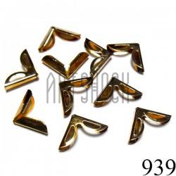 """Набор уголков для альбомов, блокнотов и открыток, """"золото"""", 16 x 16 x 4 мм., 10 штук, REGINA"""