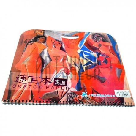 Альбом для эскизов и зарисовок Drculng SKETCH BOOK А2, 355 х 520 мм., Maries