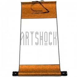 Свиток шелковый для китайской каллиграфии и живописи, оранжевый шёлк с рисовой бумагой купить в Украине