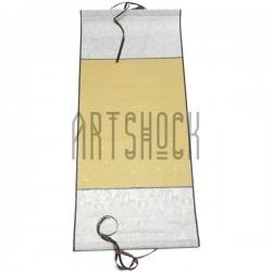 Свиток для китайской каллиграфии и живописи, серебряный шёлк, р-р: 26.7 x 61 см.