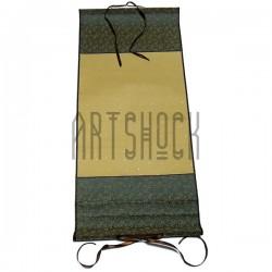 Свиток для китайской каллиграфии и живописи, зеленый шёлк, р-р: 26.7 x 61 см.