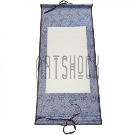 Свиток для китайской каллиграфии и живописи с рисовой бумагой, сиреневый дракон, р-р: 30.5 x 67 см.