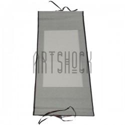 Свиток для китайской каллиграфии и живописи с рисовой бумагой, серые листья, р-р: 30.5 x 67 см.