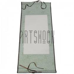 Свиток для китайской каллиграфии и живописи с рисовой бумагой, зеленая птица, р-р: 30.5 x 67 см.