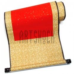 Свиток для китайской каллиграфии и живописи с рисовой бумагой, оранжевые листья, р-р: 39 x 110 см.