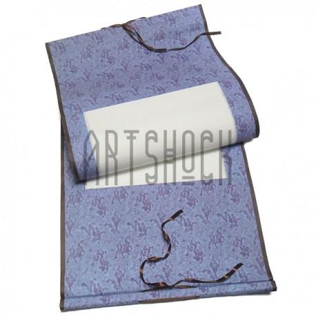 Свиток для китайской каллиграфии и живописи с рисовой бумагой, сиреневый дракон, р-р: 39.5 x 108 см.