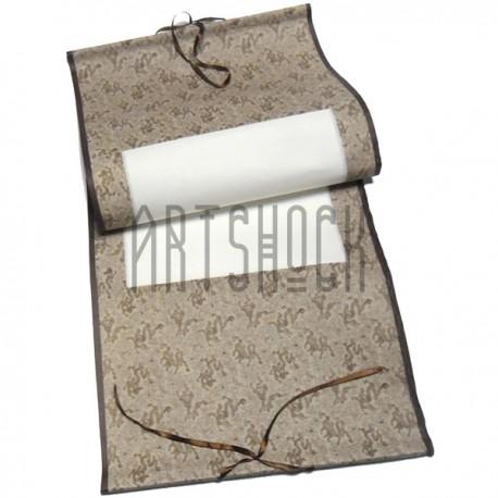 Свиток для китайской каллиграфии и живописи с рисовой бумагой, коричневый дракон, р-р: 39.5 x 108 см.