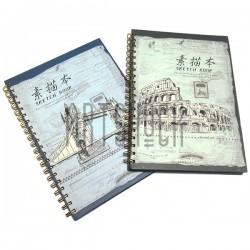 Блокнот - альбом (скетчбук) для эскизов на спирали SKETCH BOOK, 190 x 265 мм.