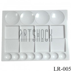 Палитра пластиковая прямоугольная на 20 ячеек, 33 x 25 см., Maries
