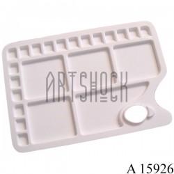 Палитра пластиковая прямоугольная на 23 ячейки, 34 х 23.4 см., CONDA