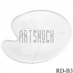 Палитра пластиковая овальная на 3 деления, 43 x 30 см., Maries