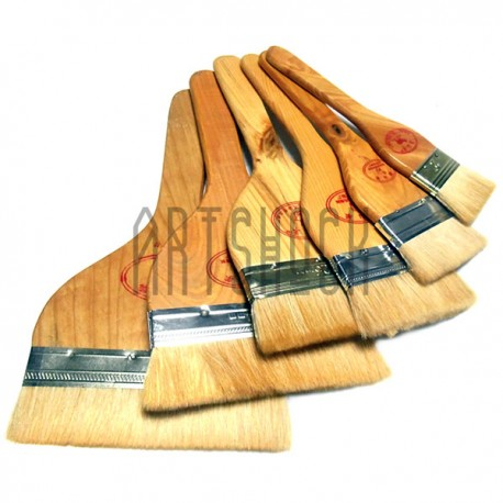 Кисть флейцевая для китайской каллиграфии и живописи из шерсти козы №6 | Кисти флейц из волоса козы