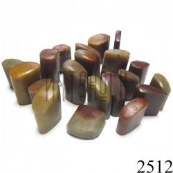 Мыльный камень для резьбы и гравировки печати, 2.5 - 3.5 см. шлифованный | Камень - заготовка для восточной печати