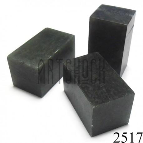 Зеленый мыльный камень для резьбы и гравировки печати, 5.2 x 2.9 x 2.9 см. шлифованный | Камень - заготовка для восточной печати