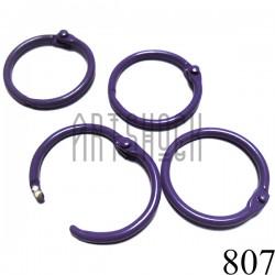 Набор колец металлических сиреневых для переплета (скрапбукинга), разъёмных, Ø3 см., 4 штуки, REGINA