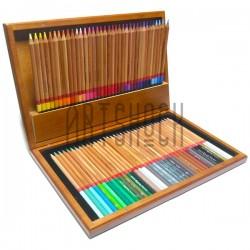Подарочный набор профессиональных цветных карандашей, 72 шт., в деревянном пенале, Marco Renoir