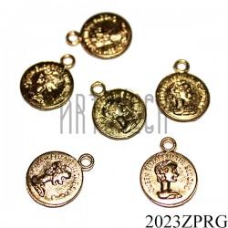 """Металлическая подвеска """"Золотая монета"""" для скрапбукинга, Ø11 мм."""
