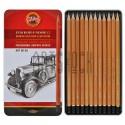 Набор карандашей чернографитных, ART HARDTMUTH, 1510 8В-2H, Koh-I-Noor