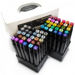 Набор художественных маркеров Tinge Twin для рисования и скетчинга, 60 цветов | Художественные маркеры для рисования в Украине