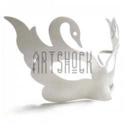 """Венецианская карнавальная маска """"Лебеди"""", с резинкой, 21 см. x 12 см."""