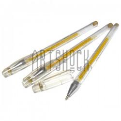 Золотая гелевая ручка (ручка с золотыми чернилами) для рисования 0.7 мм., EASY EA888GL купить в Украине