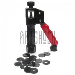 Экструдер для полимерной глины и мастики с 16 насадками, Craft Gun