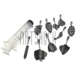 Набор инструментов для 3D желе, №1, 10 насадок + шприц