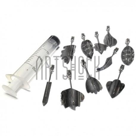 Набор инструментов для 3D желе, №1, 10 насадок + шприц   Наборы для создания 3D желе купить в Киеве