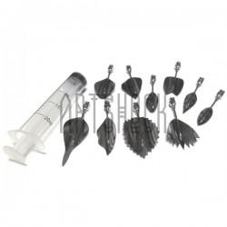 Набор инструментов для 3D желе, №2, 10 насадок + шприц | Наборы для создания 3D желе купить в Киеве