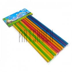 Набор цветных декоративных палочек для рукоделия (палочки для мороженого), Ø5 мм. x 15 см., 18 штук, Craft Stick