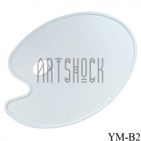 Палитра пластиковая овальная, плоская без ячеек, 43 х 30 см., Phoenix | Пластиковые плоские палитры для смешивания красок