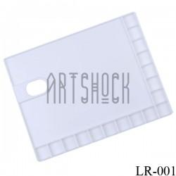 Палитра пластиковая прямоугольная на 17 ячеек, 28.5 x 21.5 см., Maries