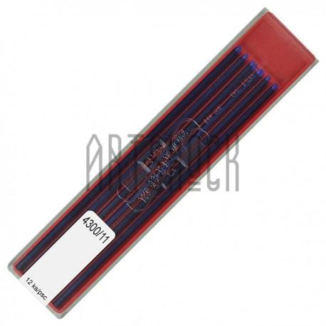 Синие грифели (стержни) для цангового карандаша, Ø2 мм., COLORAMA, Koh-I-Noor   Цветные грифели для цанговых карандашей