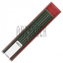 Зеленые грифели (стержни) для цангового карандаша, Ø2 мм., COLORAMA, Koh-I-Noor