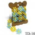 Тесьма декоративная Ромашка желто - голубая, толщина - 2.8 см., длина - 0.8 м., REGINA