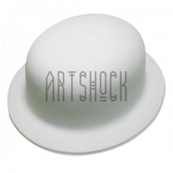 """Заготовка пластиковая с бархатным напылением """"Шляпа - котелок"""", 25 см. х 22.5 см."""