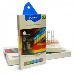 Пастель художественная масляная, 12 цветов, Marco, арт.: 4800OP-12CB для творчества и живописи купить в Киеве
