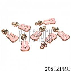 """Металлическая подвеска """"Виолончель розовая"""" для скрапбукинга, 22 x 8 мм."""