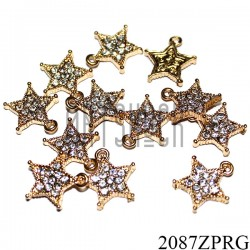 """Металлическая подвеска """"Звезда с камнями"""" для скрапбукинга, 12 x 12 мм."""