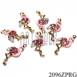 """Металлическая подвеска """"Фламинго розовый"""" для скрапбукинга, 30 x 15 мм."""