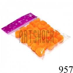 Набор декоративных помпонов для творчества и поделок, оранжевых, Ø1.5 см., REGINA | Помпончики для рукоделия и украшений
