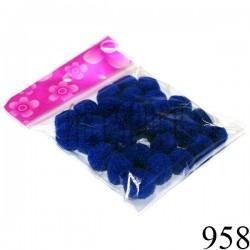 Набор декоративных помпонов для творчества и поделок, синих, Ø1.5 см., REGINA | Помпончики для рукоделия и украшений