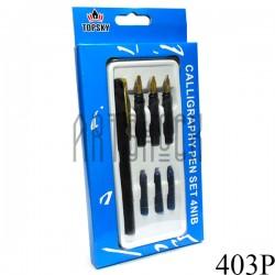 Набор для каллиграфического письма с перьями, чернилами и ручкой, 4 NIB SET, TOPSKY