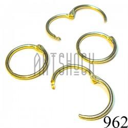 """Набор колец металлических """"золото"""" для переплета (скрапбукинга), разъёмных, Ø3 см., 4 штуки, REGINA"""